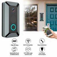 Wifi video camera camera bidirecional de duas vias visão noite grande angular lente esperto porta de segurança Bell1
