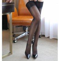 Sexy Over Knee Bas Sheer Cuisse High Stocking pour Femmes Ouvert Collant Collants Collants Bas en dentelle Collants de jarretelle de jarretière1
