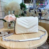2021 Mulheres Designer Saco de Ombro Y-shaped Quilted Couro Real Fashion Lady Crossbody Bags Bolsa de Cadeia de Alta Qualidade Flap Flap Carteira Quatro Cor