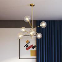 2020 유럽 현대 크리에이티브 간결한 스타일 유리 펜던트 조명 유리 거품 연구 거실 레스토랑 카페 장식 램프