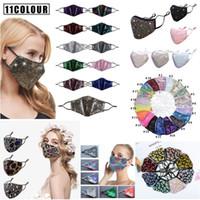 DHL transporte lavável brilho máscara de lanteiga de moda reutilizável tampa de rosto com orelha ajustável para mulheres máscara de boca protetora