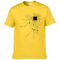 CPU ordinateur de base de coeur T-shirt GEEK Nerd Freak Homme Hacker PC Gamer Tee été manches courtes en coton T-shirt Euro Taille # 303