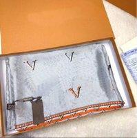 Sciarpa di seta stampata designer originale Sciarpa da donna elegante Sciarpa da donna taglia 1800x90 cm Consegna gratuita