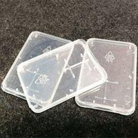 마이크로 SD 메모리 카드 보호 상자 SD 카드 상자 울트라 얇은 투명 플라스틱 저장 상자 소매