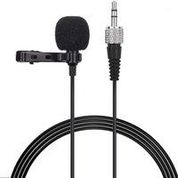 ميكروفونات hfes صديمي m21 clip-on condenser lavalier ميكروفون mic 3.5 ملليمتر trs التوصيل 1 متر كابل لسوني d11 d121