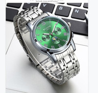 Одельные часы Мужчины Водонепроницаемый Деловой Ночные Светлые Часы 2021 Стальные ремень пояса Кварцевые Часы Поддельные Три глаза WLISTH Бременту Бесплатная Доставка