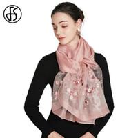 FS 2021 Длинные шерстяные шелковые шарф женские новые дизайнерские шарфы для дамский пляж одеяло шаль кружева бандана хиджаб Фуляр