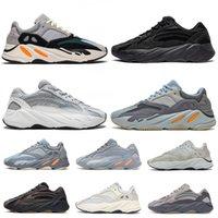 남자와 여성의 캐주얼 스포츠 신발 고품질 700 V2 Kanye 웨스트 카본 블루 Vanta 3M Mens 러닝 신발 테프라 700S 여자 스낵