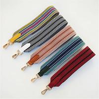 Mulheres coloridas Cinto de couro Saco Acessórios Tecido Arco-íris Ajustável Saco Strap para Bolsa Nylon Ombro Strap Saco Handles W211