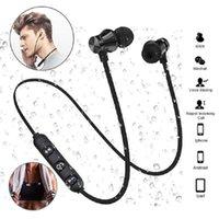 Neue XT11 Bluetooth Kopfhörer Magnetic drahtlose Rennen Sport-Kopfhörer-Headset BT 5.0 mit Mic MP3 Earbud für iPhone Smartphones 4 Farben