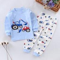 Enfants Pyjamas Baby Vêtements Set Enfants Cartoon Sleep Heightwear Autumn Coton Nightwear Boys Garçons Filles Pyjamas Ensemble