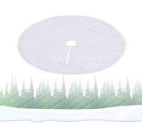 Yeni Yıl Ev Dekorasyon EEA2144 için Noel Peluş Ağacı Elbise Peluş Ourwarm Saf 48 İnç Beyaz Noel ağacı Etek Sahte Kürk Halı