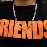 Zincirler Moda Basit Hip Hop Kolye Paslanmaz Çelik Atmosfer Nefis Menve MenveOsta Küba Zincir Punk Çift Hediye Jewelry1