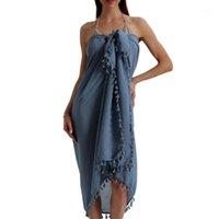 패션 여성 여름 수영복 비키니 커버 비치 맥시 롱 랩 스커트 사롱 드레스 Pareo 캐주얼 커버 업 비치웨어 4 색 1