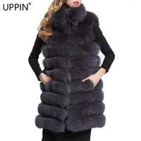 FRAND FUR FUL FAUX UPPIN 2021 FEMME DE PRESTIÈRE Manteau de style de longue durée Vest d'hiver Slim Fashion Jacket Casaco Feminino1