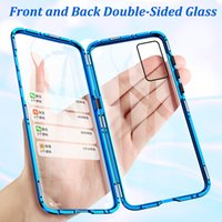 Magnetic Metal Adsorption Double Sided Case For Huawei P40 P30 P20 Mate 30 Mate 20 20 20I 20 9X V20 Pro Lite Nova 7 SE 5I 5 Pro