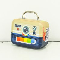 60pcs bagages Shaped Bonbonnière Petite boîte vintage sac à main Valise Coffrets cadeaux Fête Rectangle mariage Favors 75 * 35 * 55mm