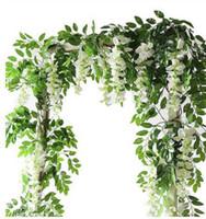 2M 등나무 인공 꽃 포도 나무 갈 랜드 결혼식 아치 장식 가짜 식물 단풍 등나무 후행 가짜 꽃 홈 장식 DDD4768