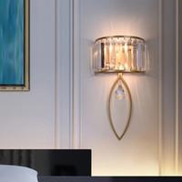 Lâmpada de parede pós-moderna Lâmpada de vidro nórdico parede de parede de parede para quarto de cabeceira luminária luminárias espelho de banheiro decoração industrial