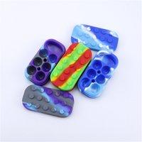 6 + 1 Contenedores de cera de silicona 34 ml Concentrado Jarras de almacenamiento no manchado 7in1 Dabber Box DAB latas 6mlx4 + 10ml Colorful Nonslick Frascos