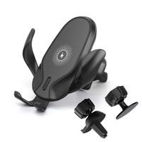 10W Schnelles Qi Wireless-Autoladegerät Halterung Gravity-Klemmung Schnellladehalter für Samsung S20 S10 S9 S7 S7