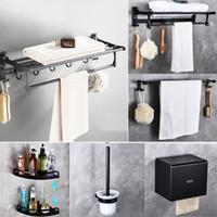 Spedizione gratuita Cody Space Spazio in alluminio Set da bagno Accessori Spazio Al Bath Asciugamano Rack Bagno Hardware Pendente Nero Pendente Set asciugamani