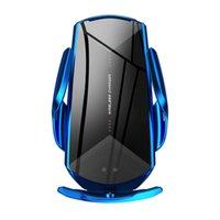 Yeni Q2 Akıllı Sensör Araba Kablosuz Şarj Tutucu Qi 10 W Hızlı Şarj Cep Telefonu Tutucu Standı