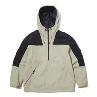 Bordado logo 2021 moda para hombre chaqueta primavera otoño outwear rompevientos con capucha cremallera cremallera chaquetas caprichas abrigo fuera del deporte Ropa de los hombres