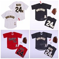 Moive Baseball Hooligans 24K Bruno Mars Jersey Männer Marine-Blau Weiß Rot Team-Farbe kühle niedriger Pinstripe Stickerei und Näherei gute Qualität