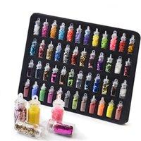 48 бутылок / набор ногтей искусства гона бортонов бусины блестки блеск Советы украшения инструмент гель для ногтей наклейки для ногтей смешанный дизайн