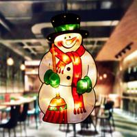 Emme Kupası Pencere Asma Işıklar Küçük Noel Dekoratif Atmosfer Sahne Dekor Bayram Işıklar Pencere Vitrin LED Sucker Lambası VT1778