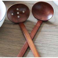 Envío rápido NUEVO Vajilla de madera Tortuga Sopa Sopa Cuchara Japonesa Ramen Madera Mango largo Colador Cuchara de olla caliente Práctica y duradera 8xbzj