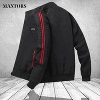 Men's Autumn Jacket Long Sleeve Bomber Coat Clothing Motorcycle Pilot Striped Windbreaker Male Fashion Black Sportswear 3XL 201130
