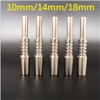 10 мм 14 мм 18 мм Инвертированный класс 2 Титановый наконечник Гвозди для курения Аксессуары для NC Kit Стеклянные Вода Бонги DAB Установки Titanium Nail