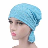 Mütze / Schädelkappen Frauen Modell Kopftuch Chemotherapie Kappe Western Stil Rüschenkrebs Chemo Hat Beanie Schal Turban Wrap Hedging 2021