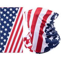Maschera sportiva da ciclismo respiro respiro protettivo viso maschera america bandiera maschere sciarpa bicicletta mezza faccia copertura design viso scudo testa sciarpa