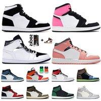 أعلى الأزياء jumpman 1 المرأة أحذية كرة السلة 1 ثانية تويست منتصف gs الوردي الكوارتز الرجال المدربين البديل فكر مرتفع og bio hack أحذية