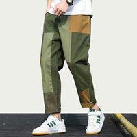 Iidossan novo 2020 calças de carga xadrez homens homens corredores homens patchwork macacão calças casuais japonês calças streetwear pants harajuku mulheres