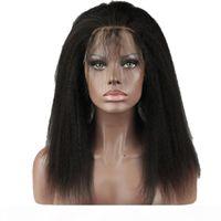 Brezilyalı Bakire Saç 360 Dantel Frontal Kinky Düz Yirubeauty İnsan Saç Sapıkça Düz Ön Koplanma Yaki 8-22 inç 360 Dantel Frontal