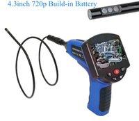 4.3 pulgadas de 5,5 mm 720p Lente dual AV Endoscopio de mano Cámara de inspección 3x ZOOM CMOS CORESCOPO A prueba de agua IP661