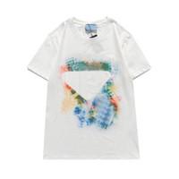 21SS Şık Erkekler Serin Gevşek Erkek Tshirt Erkek Kadın T Gömlek Rahat Kısa Kollu T-Shirt Tops Tee Gömlek Giysi Sıcak Satış Moda