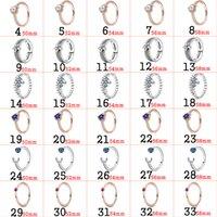 2018 Fahmi 925 Silver Pandora Assepoester Blue Tiara Sprankelende Sneeuwvlok Ringen Originele Sieraden voor Vrouwen Gift Nieuw populair