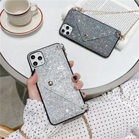 Flash Diamond Luxury Iphone12case Suitable for 11pro Max 12mini Mobile Phone Cases Iphone12 Soft Case8p Lanyard Se Coin Purse 7 Female-
