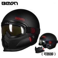 Beon الرجعية نمط دراجة نارية خوذة وحدات موتوكروس دراجة نارية capacete ABS كاسكو موتو T7031