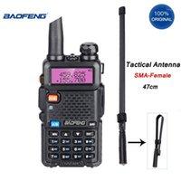 Baofeng UV-5R Walkie Talkie Professional Добавить складную антенну 8-10 км HF Приемопередатчик 5W VHF UHF Портативный UV5R CB 2 Way Ham Radio1