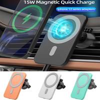 15W 마그네틱 무선 자동차 충전기 아이폰 12 프로 최대 12mini Qi 빠른 충전 무선 충전기 삼성 자동차 전화 홀더