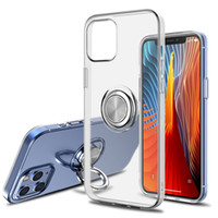 360 gradi Anello Cavalletto TPU Case trasparente per iPhone 12 Mini 11 Pro XS Max XR X 7 8 Inoltre Samsung Note20