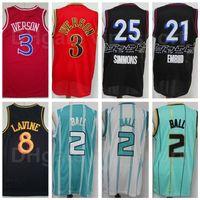 Ciudad ganada edición baloncesto jersey joel Embiid 21 Ben Simmons 25 Allen Iverson 3 Lamelo Ball 2 Zach Lavine 8 Negro Azul Verde