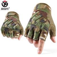 Jiusuyi meio dedo luvas táticas exército militar mitenes sem dedos swat camo luva paintball tiro ciclismo dirigindo homens lj200923