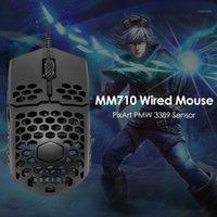 Mäuse MM710 Gaming Maus verdrahtet 7 Getriebe 16000 dpi wonecreme shell cooler usbcable spiel für pc laptop notebook1
